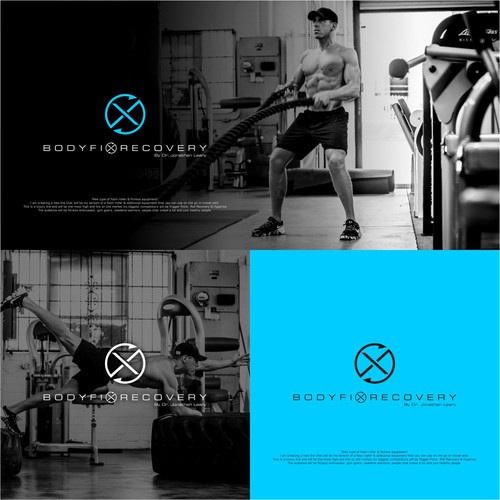 Create an abstract, minimal logo for a new fitness equipment line