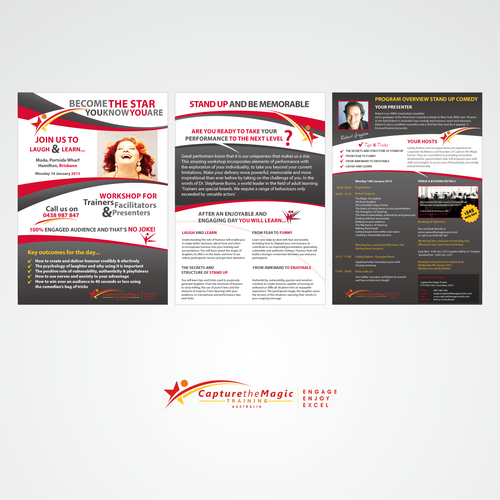 Create the next brochure design for Capture the Magic Training