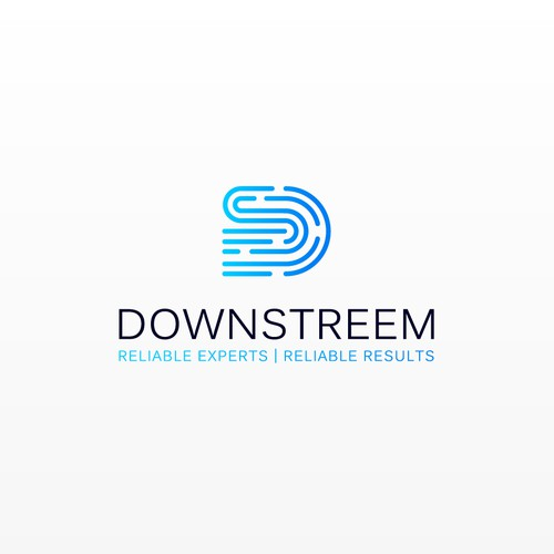 Downstreem needs a powerful technology-focused logo