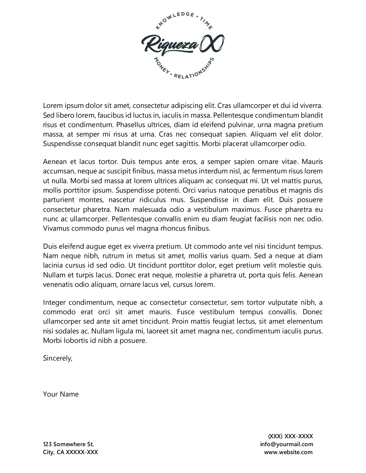Riqueza X Branding & Social Media Logo