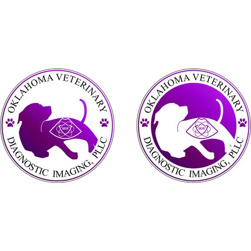 Create a logo that depicts the benefit of ultrasound for a companion animal