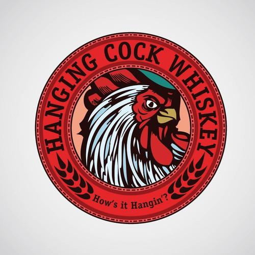 Hanging Cock Whiskey needs Bottle Label & logo and merchandise design