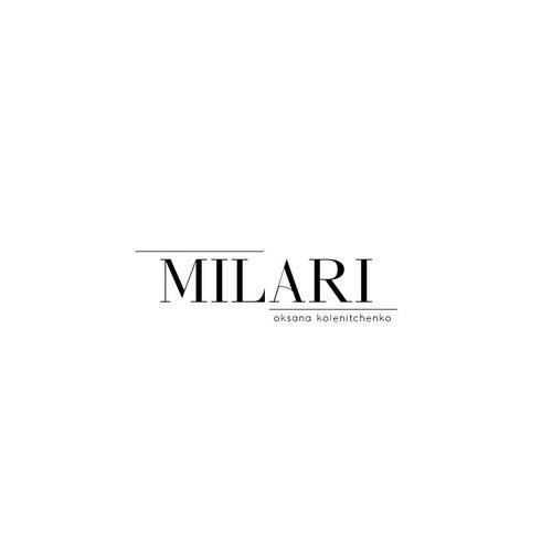 A logo for Milari fashion blog