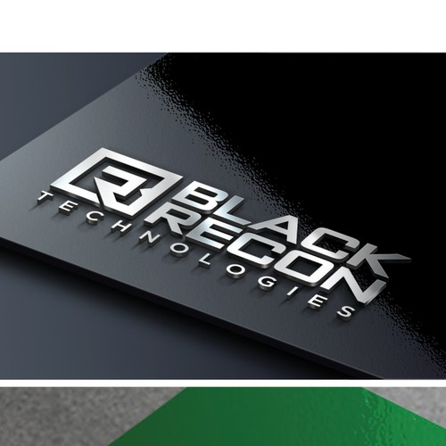 Create a high tech futuristic logo for Black Recon Technologies