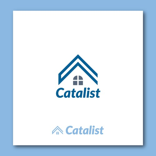 logo concept for estate & mortgage