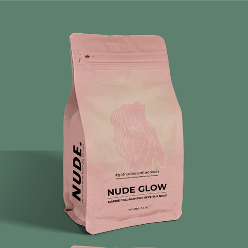 Packaging design for Nude Glow - powder