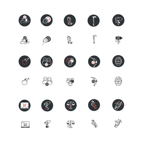 Icon Set for Meevo Website