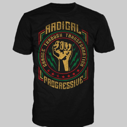 Clean and bold T shirt design