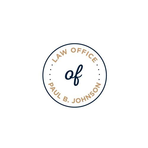 Modern/fun take on a trademark law office