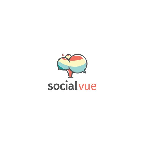 Playful logo for social-vue
