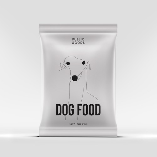 Packaging design concept for pet food