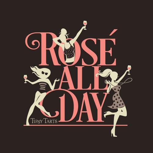 rose' all day t-shirt design