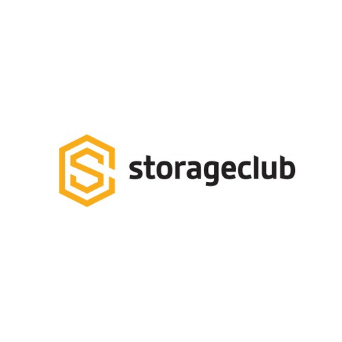 Bold logo for modern, App user, storage business solution.