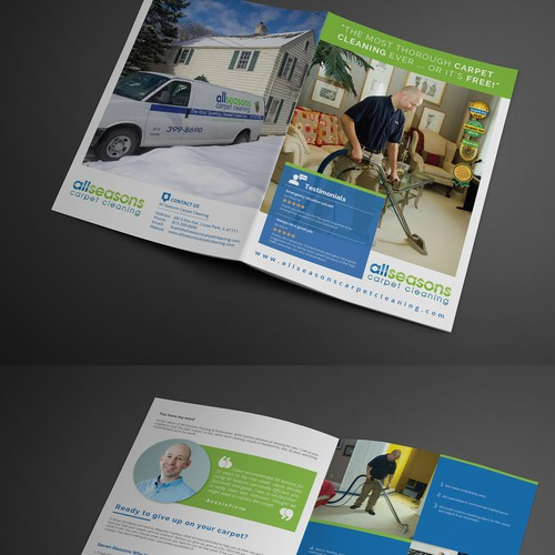Carpet cleaning company brochure design