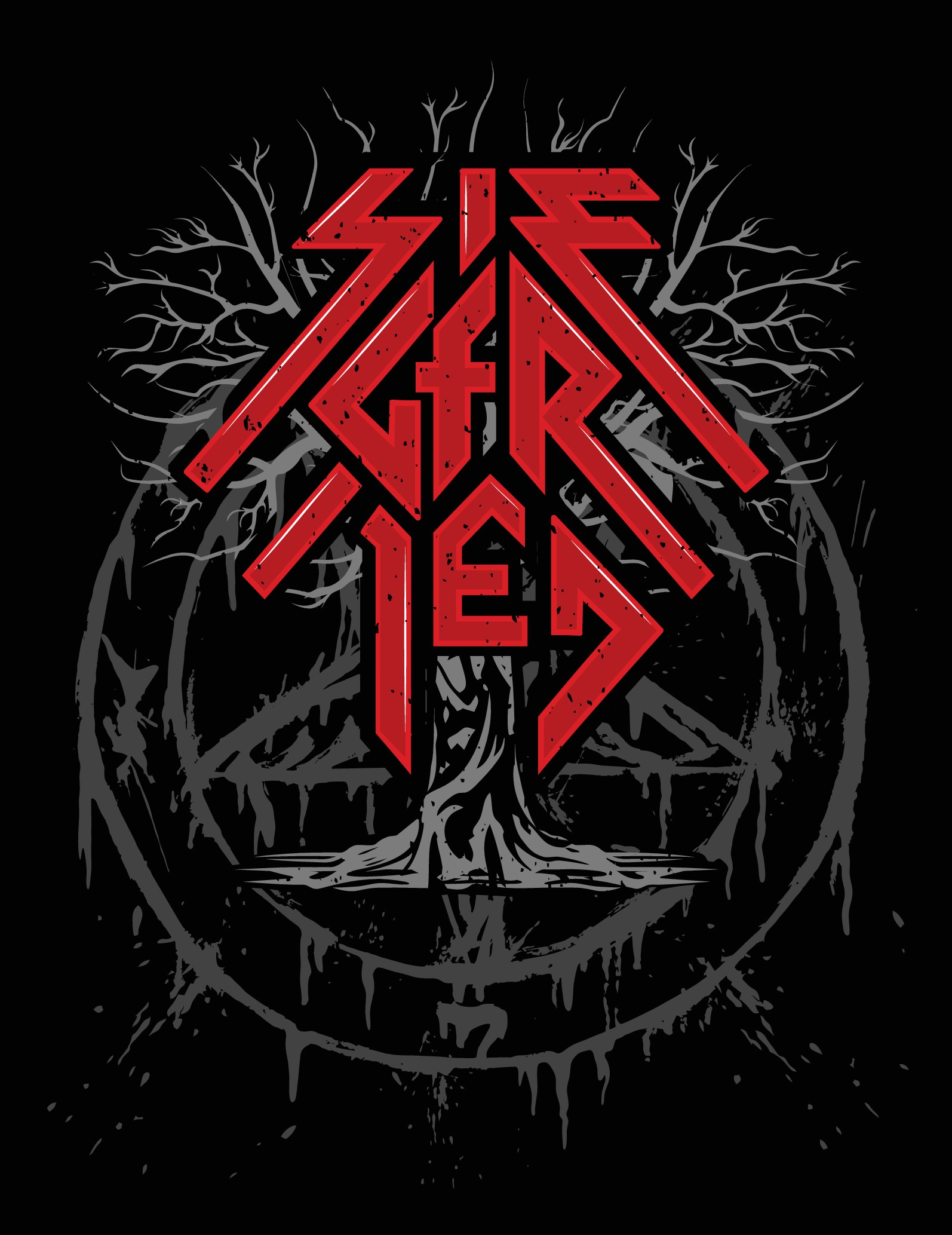 Create a 80s TRASH METAL version of our logo to put on a T-Shirt