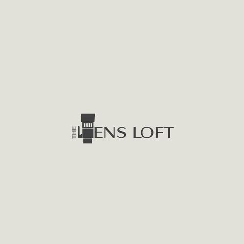 logo concept for a lens rental company