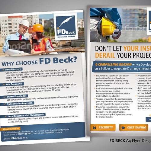 Help F.D. Beck & Sons Pty Ltd with a new postcard or flyer