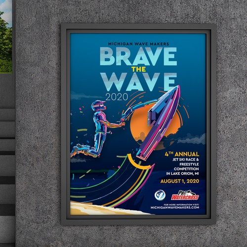 Brave the Wave Poster