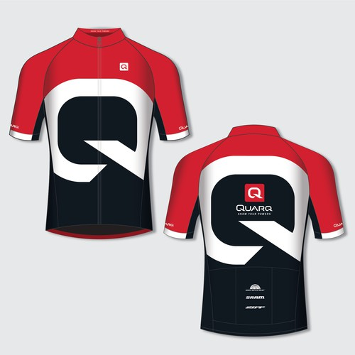 Cycling jersey design for Quarq power meters