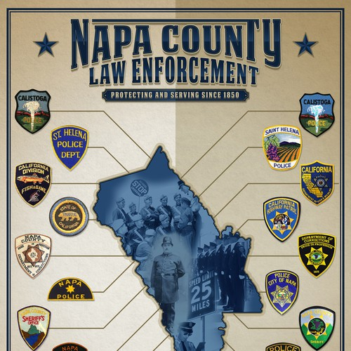 Poster Design for Napa Police Historical Society