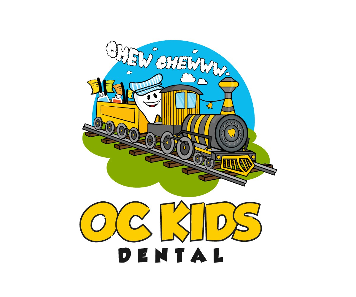 Create a Children's Dentist Logo featuring Trains