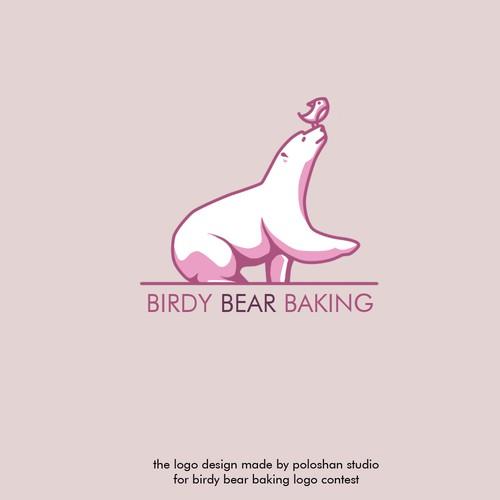 logo concept for birdy bear baking