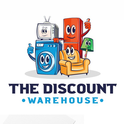 I made a funny mascot design for a discount warehouse company.