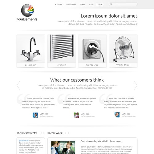 Four Elements needs a new website design