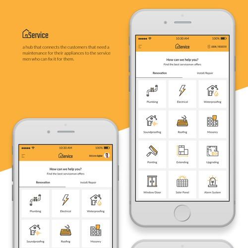 Service provider app