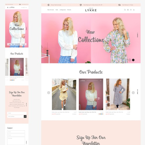 Home page concept for Lykke by lykke