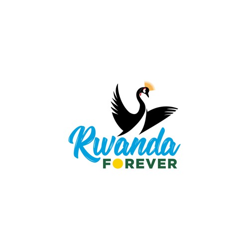 Clean and simple logo for Rwanda