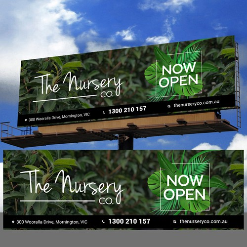 The nursery co. billboard