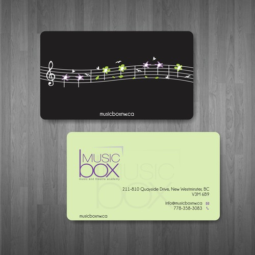 Create the next stationery for Music Box
