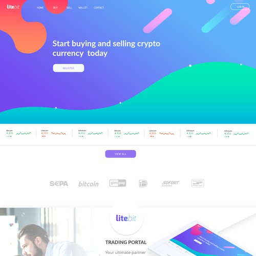 Modern web page redesign concept
