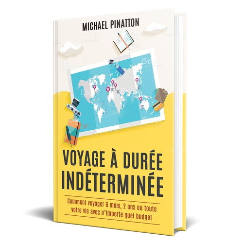 Create a powerful cover for non-fiction travel guide on How to Travel Indefinitely