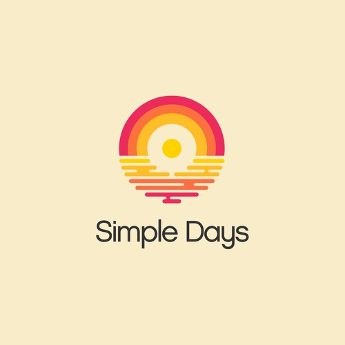 Creative vinyl logo for Simple Days