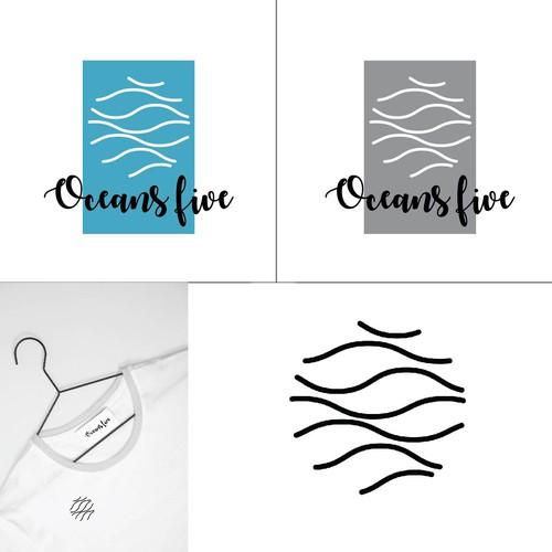 "logo design for ""oceans five"""