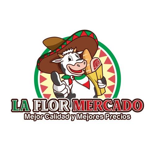 logo concept for La Flor Mercado
