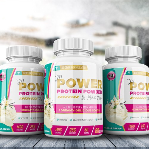 Label For mPower by Michelle Marie Protein Powder