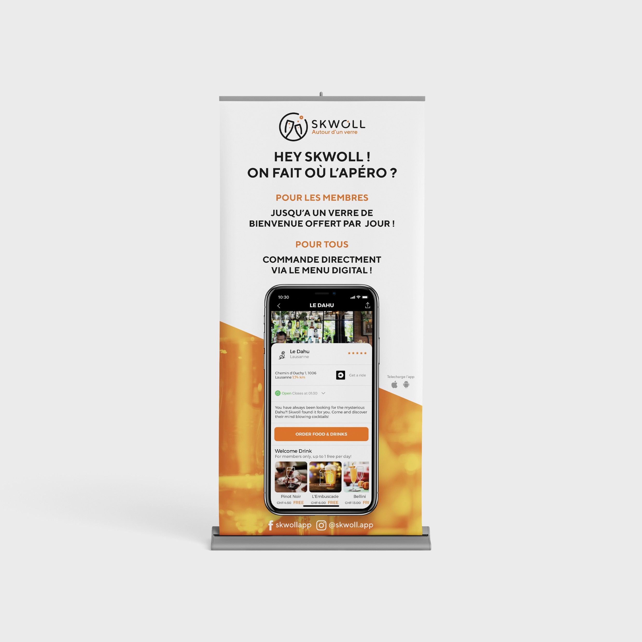 Skwoll - Rollup and Banner design