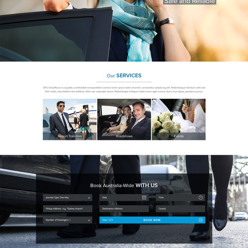 Landing Page Design for GPU Chauffeur