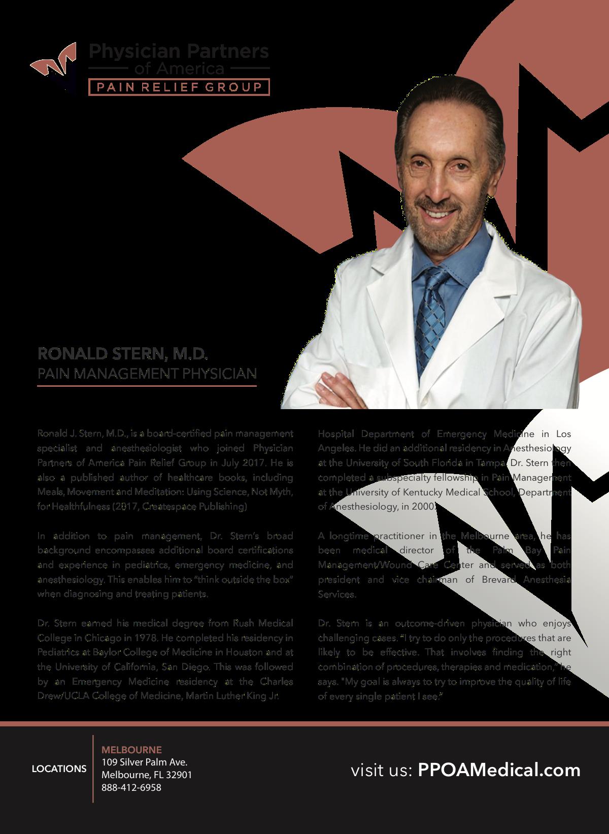 Dr. Stern Medical Practice Flyer