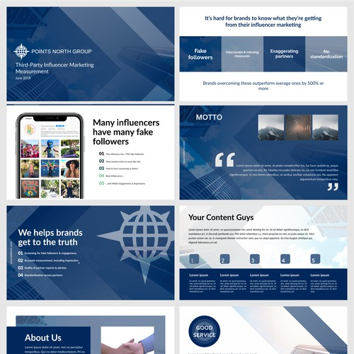PPT template for influencer marketing data & analytics company