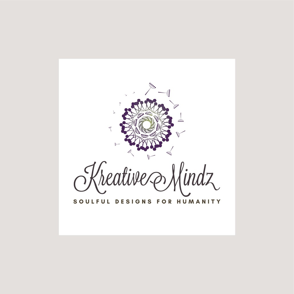 Create an organic logo for my brand, KreativeMindz ~ Soulful Designs for Humanity