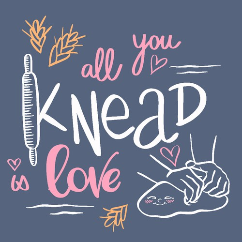 Hand lettering for an apron embroidery