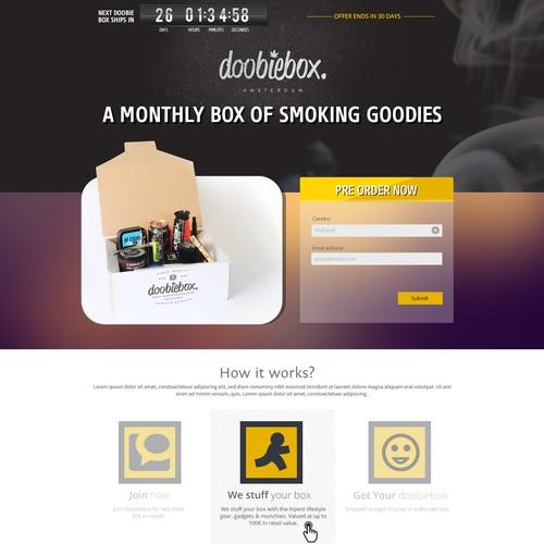 Landing page for smoking goodies.