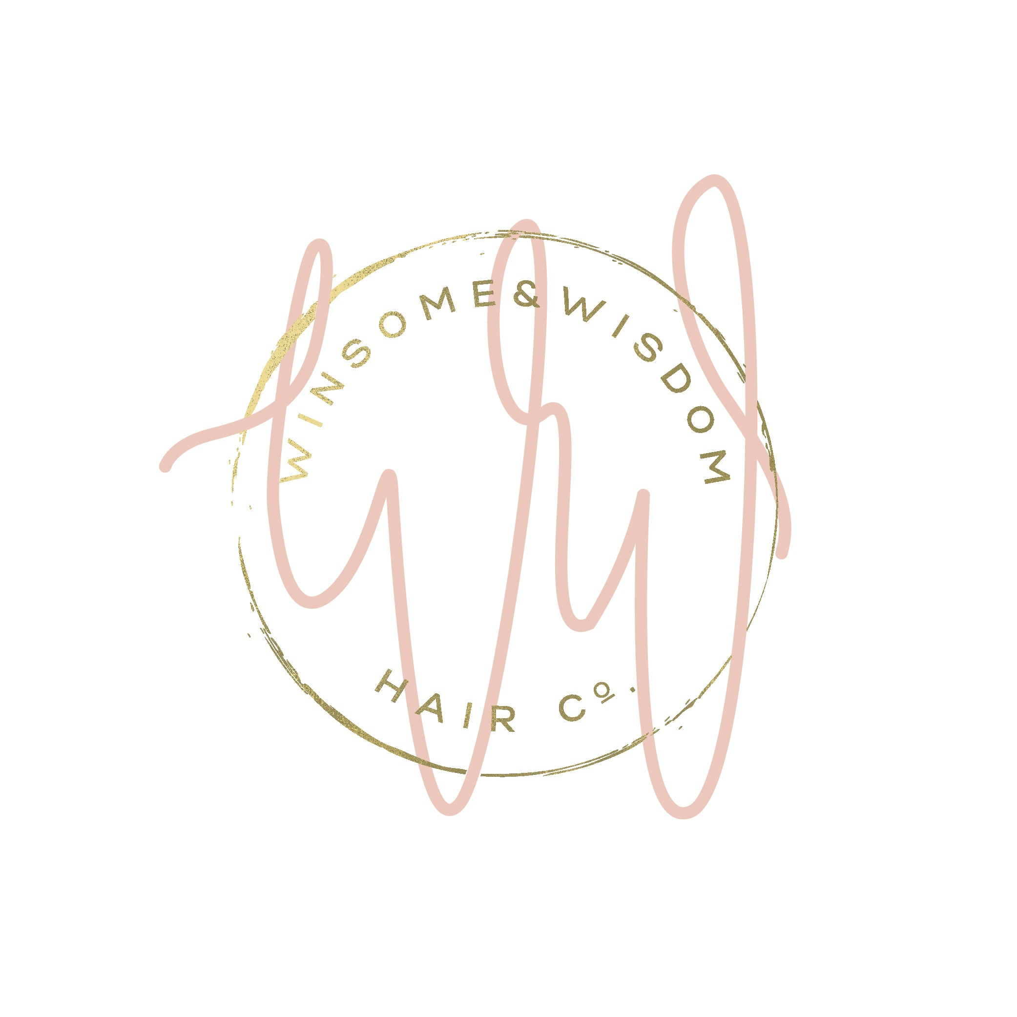 Design a whimsical and classy logo for Winsome & Wisdom Hair Co.