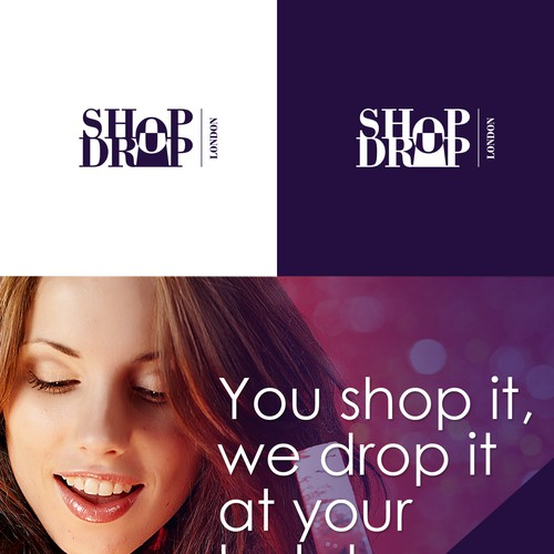 logo and business card for SHOP DROP LONDON
