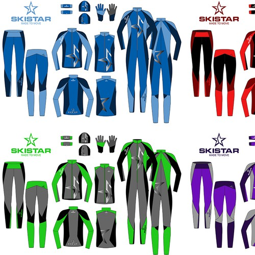 """Create a active Skiwear collection under """"Skistar"""" brand"""