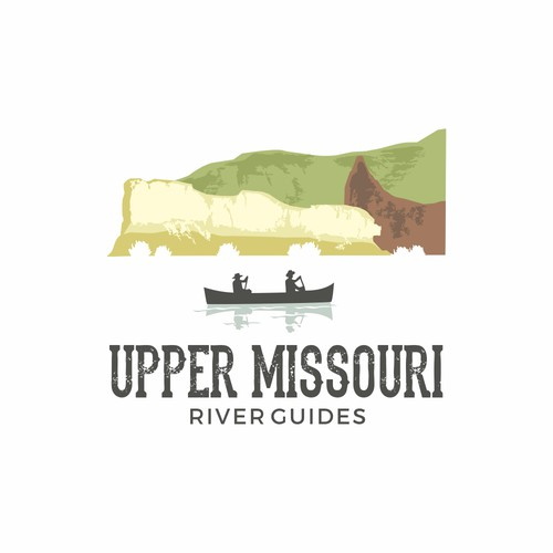 Logo for UpperMissouri River Guides. #nature #mountain #river #logo #vacation #adventure #edge #remote